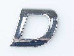 Embleem Letter D/nieuw