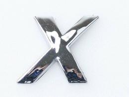 Embleem Letter X/nieuw